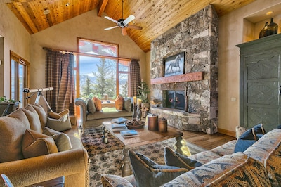 Spacious Living Room with tons of natural light and amazing views of the Deer Valley resort