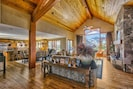 Open-concept living/dining/kitchen area allows for the perfect entertaining space