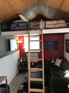 Living room and Loft Bedroom