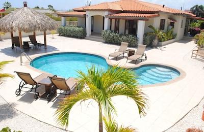 Villa Chuchubi and Pool, with Sun Loungers and Shady Palapa