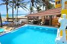 Villa Leone Private Oceanfront Swim Up Pool Bar.