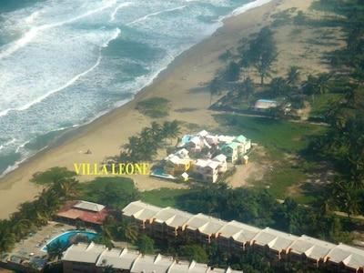 Aerial View of Villa Leone and 3 Neighbor Villas