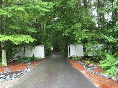 Gated entry to the property.  You will have your own custom entry code.