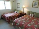 Second Bedroom, Upstairs, Two Full Size Beds, Overlooks Garden