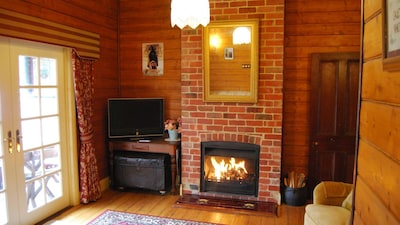Separate Lounge with Wood fire