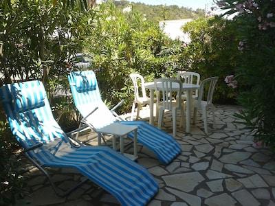 terrasse côté falaise