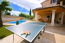 You can play table tennis
