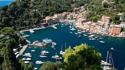 Portofino harbour from Castello Brown 1,5 km far from the villa