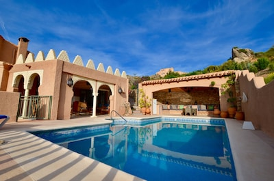 Fancy a dip! Cool down in the beautiful private swimming pool with Roman steps.