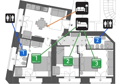 Neue 3 Schlafzimmer, 2 Badezimmer und voll Mitte des Raumes! - Free Wifi