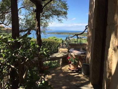 Front door with sea view