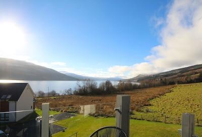 Ferienhaus am Loch mit herrlichem Blick