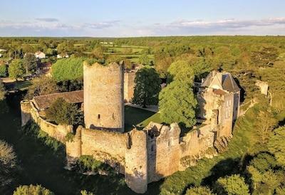vue aérienne sur la forteresse