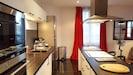 Kitchen, stove, dishwasher, coffe machine, oven