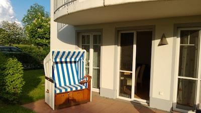 Traumhafte strandnahe 3 Zimmer Ferienwohnung,Kostenloses WLAN, Strandkorb