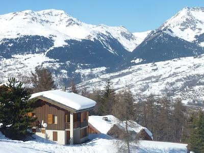 Vue du Chalet - Arrivée skis aux pieds