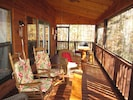 10'x30' screened rear porch for breakfast, grilling or relaxing close to nature