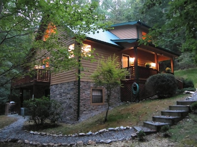 More than just a place to sleep, enjoy the creek trail or relax on the porches