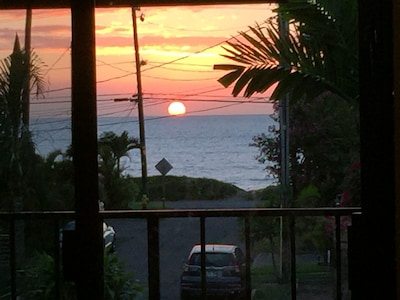 Sunset view from the Lani
