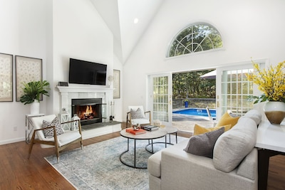 Living Room open to pool area