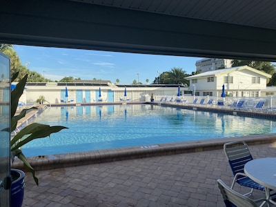 Shuffleboard/bathrooms/outdoor shower/clubhouse/extra laundry machines