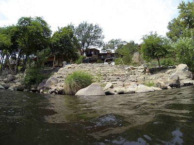 View of house from the river.