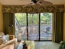 The beautiful tree shaded balcony off the living room.