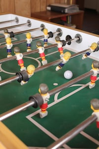 Save those quarters with your very own Foosball table.
