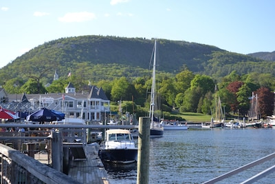Camden's beautiful inner harbor and Mount Battie are just part of your view.