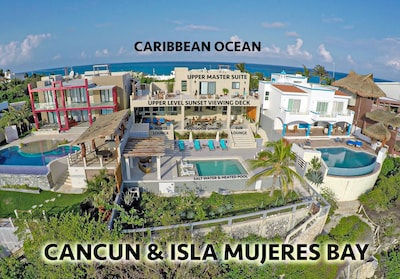 Uniquely positioned between the Caribbean and the bay.  We have the best views.