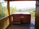 Hot Tub on Deck with View