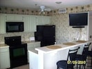 Kitchen of RT 311 with digital tv, updated appliances