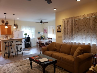 Photo from living area to  dining area