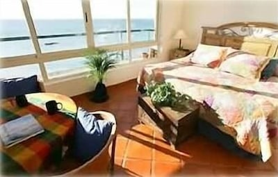 Master Bedroom. Incredible views and listen to the water lapping at night