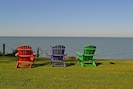 Adirondack chairs to enjoy the view!