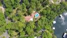 Ariel view of the 7 acre villa on Lake Hamilton