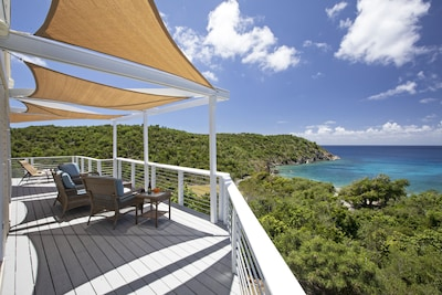 Enjoy two levels of expansive deck space