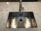 Deep, single basin stainless steel sink!