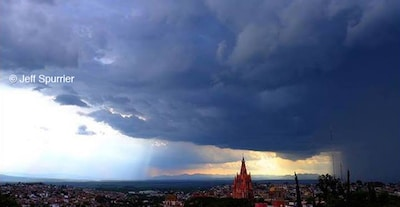Storm moving over San Miguel; view from Casa Chepito.