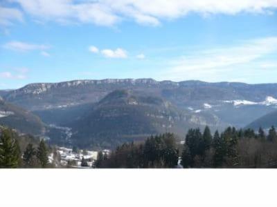 Vue montagne hiver