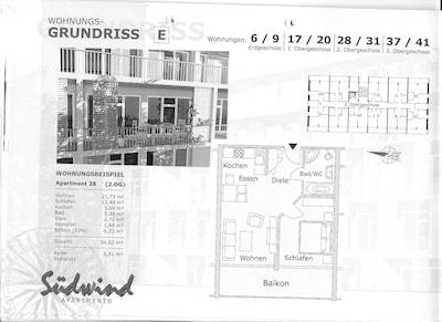 Grundriss Wohnung 28