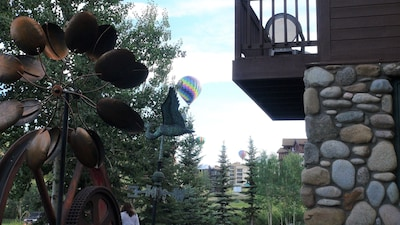 Bedroom deck looking toward ski area and balloon launch