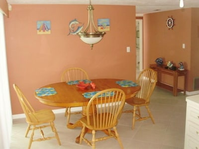 Dining area, but most meals will be in florida room.
