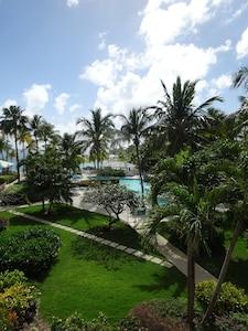 Where the blue sky meets the aqua Caribbean