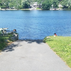 Private boat ramp and dock space just feet from your door!!!