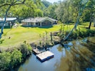 View Over Stewarts River with  Private floating Pontoon  and House