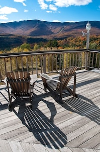 View from the deck of Sugarbush and Mad River.