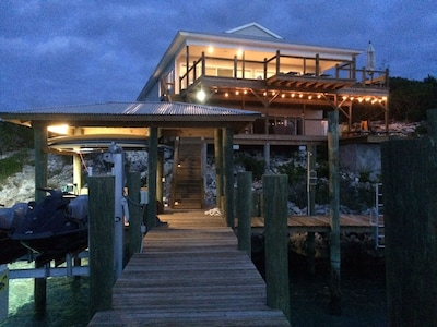 View of house from the dock