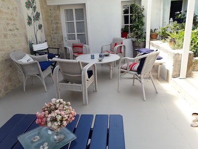Le coin salon de la terrasse