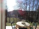 La vue depuis notre terrasse ensoleillée,au calme